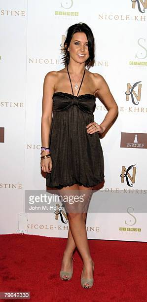 Audrina Patridge attends the Spring Collection launch of Nicole Khristine Jewelry at Social Hollywood on February 7 2008 in Hollywood California
