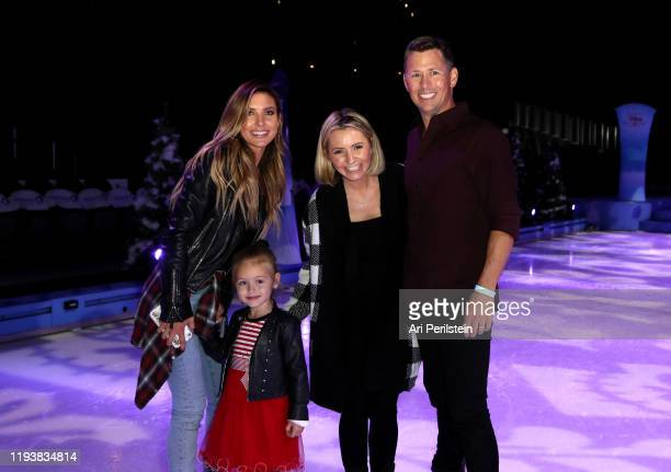 Audrina Patridge daughter Kirra Beverley Mitchell and Michael Cameron attend Disney On Ice Presents Mickey's Search Party Holiday Celebrity Skating...