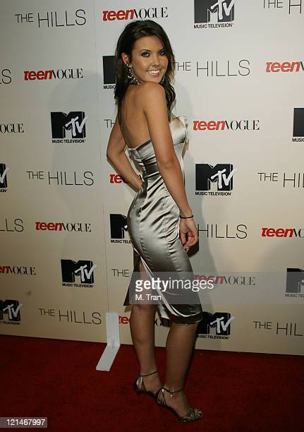 Audrina Patridge during Launch Party to Celebrate the Second Season of the MTV Series The Hills at Area in Hollywood California United States