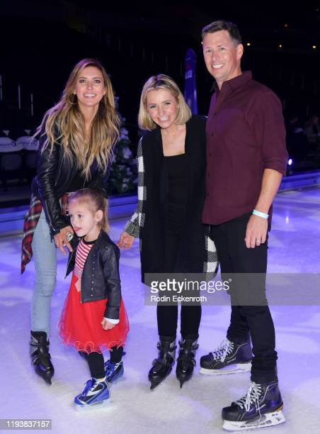 Audrina Patridge Kirra Max Bohan Beverley Mitchell and Michael Cameron pose for portrait at 2019 Disney On Ice Mickey's Search Party at Staples...