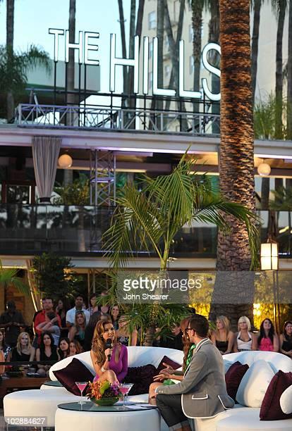 Audrina Patridge MTV hosts Jessi Cruickshank and Dan Levy speak during MTV's The Hills Live A Hollywood Ending Finale event held at The Roosevelt...