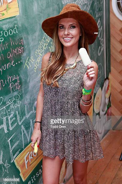 Audrina Patridge stops by the Fruttare Hangout at Coachella to share what keeps her looking on the bright side New Fruttare Fruit Bars are now...
