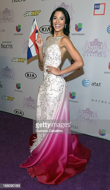 Audris Rijo attends Univisions Nuestra Belleza Latina Grand Finale at Univision Headquarters on May 19 2013 in Miami Florida