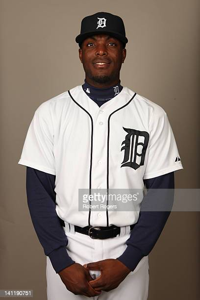 Audy Ciriaco of the Detroit Tigers poses during Photo Day on Tuesday February 28 2012 at Joker Marchant Stadium in Lakeland Florida