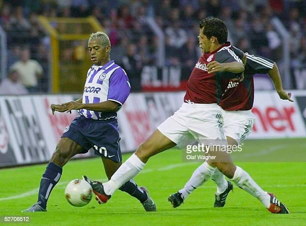 POKAL 2002 Aue FC BAYERN MUENCHEN HERTHA BSC BERLIN MARCELINHO/Hertha Hasan SALIHAMIDZIC/Bayern