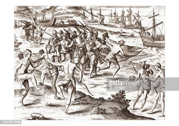Auf seiner Fahrt zur MagellanStraße geht Drake am Rio de la Plata vor Anker wird von den Eingeborenen freundlich begrüßt aber man raubt ihm seinen...