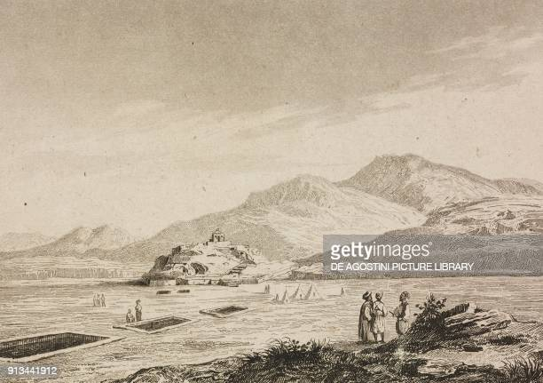Aufat Arabia engraving by Fleury from Arabie by Noel Desvergers avec une carte de l'Arabie et note by Jomard L'Univers pittoresque published by...