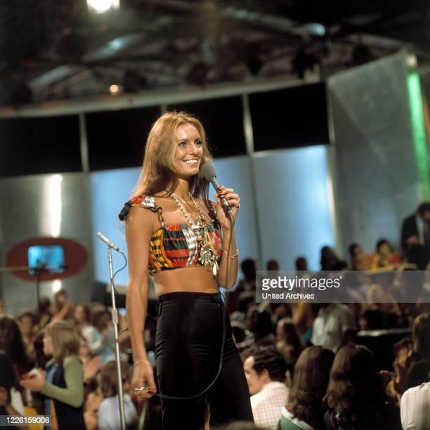 Auftritt in der ZDF Musik-Show disco, 1972.