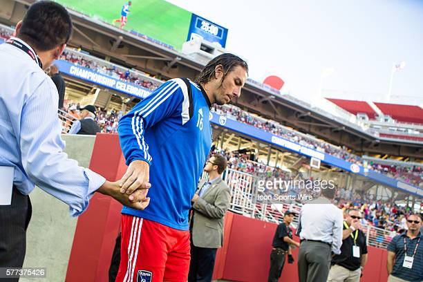 San Jose Earthquakes forward Alan Gordon enters the stadium before the game between the San Jose Earthquakes and the Seattle Sounders FC at Levi's...