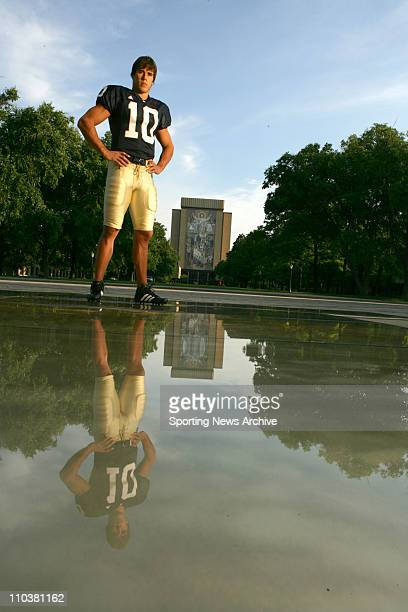 Aug 06 2006 South Bend IN USA Portrait of Notre Dame Quarterback BRADY QUINN on the Notre Dame campus in South Bend Indiana