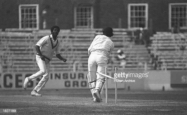 England v West Indies fifth test match final day at the Oval Michael Holding takes the wicket his fourteenth of the match of Alan Knott Mandatory...