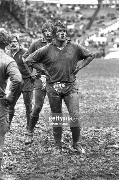 Fran Cotton of the British Lions waits in a lineout during a match on their tour to New Zealand Mandatory Credit Adrian Murrell/Allsport