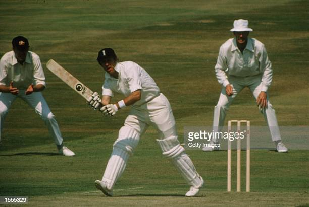 Geoff Boycott of England on his way to his 100th first class century during the Fourth Test match against Australia at Headingley in Leeds, England....