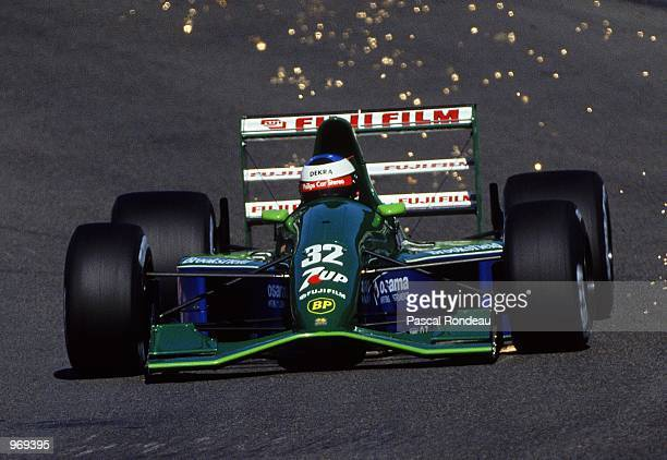 JordanFord driver Michael Schumacher of Germany makes his F1 debut during the Belgian Formula One Grand Prix held in Spa Belgium Mandatory Credit...