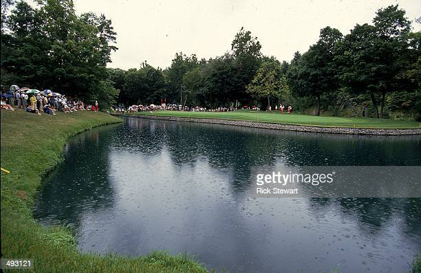A general view of a water hazard taken during the LPGA Du Maurier Classic in London Ontario Canada Mandatory Credit Rick Stewart /Allsport