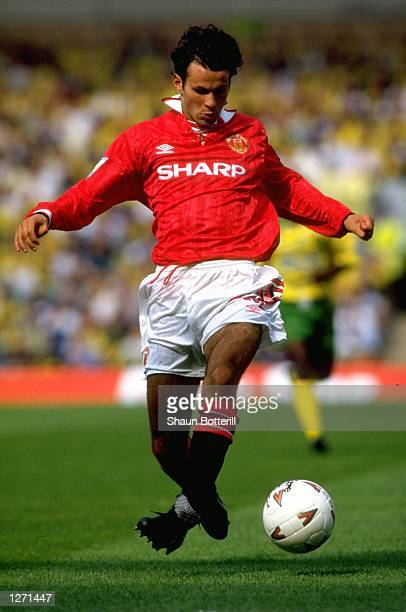 Ryan Giggs of Manchester United in action during an FA Carling Premier League match against Norwich City at Carrow Road in Norwich England Manchester...