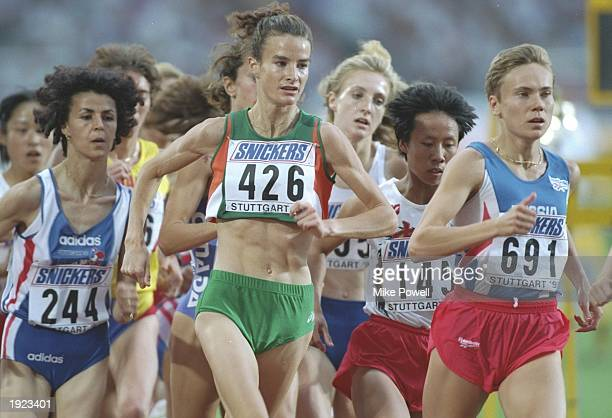 Sonia O'sullivan#426 of Ireland in action during a 3000 metres heat at the World Championships at the Gottleib Daimler Stadium in Stuttgart Germany...