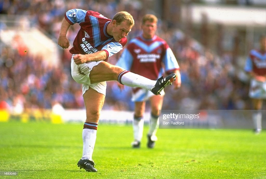 Tim Breacker of West Ham in action during an FA Carling Premiership match against Leeds United at Upton Park in London. The match ended in a 0-0 draw. \ Mandatory Credit: Ben Radford/Allsport