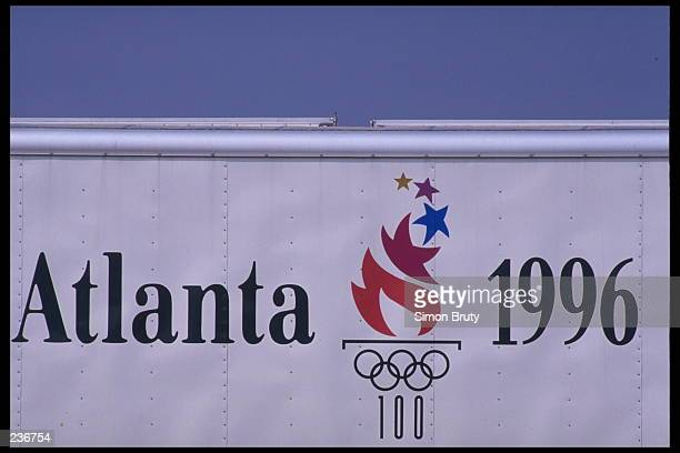 Commemorative banner for the 19965 Summer Olympics on display in Atlanta, Georgia. Atlanta will host the 1996 Summer Olympic Games. Mandatory Credit:...