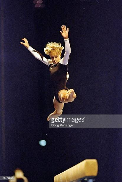 Donielle Thompson performs on the balance beam during the United States Gymnastics National Championships at the Louisiana Superdome in New Orleans...