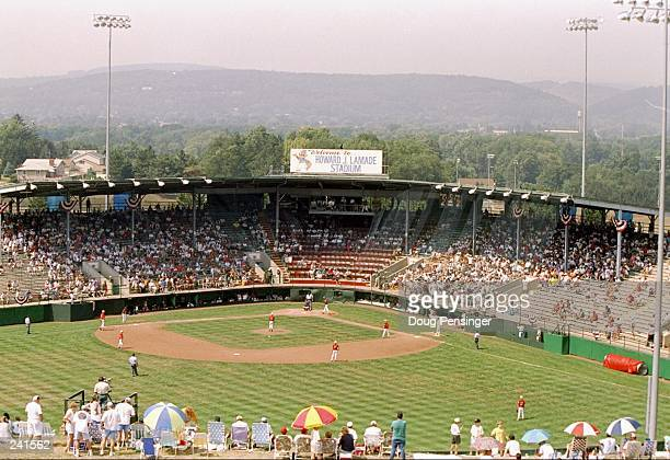 General view of the stadium during a Little League World Series playoff game between the United States East and the United States South in...