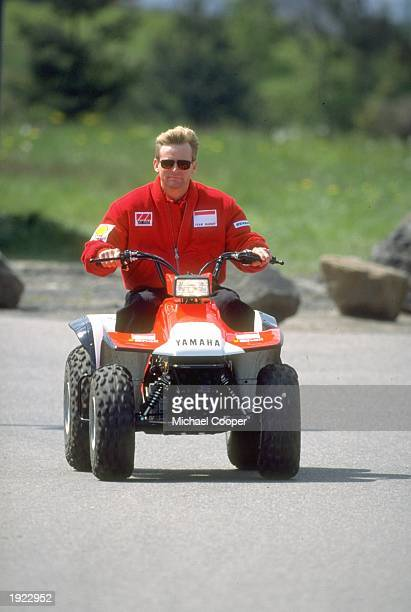 Marlboro Yamaha Boss Wayne Rainey of the USA drives a quad bike during the German Grand Prix at the Nurburgring circuit in Germany Mandatory Credit...