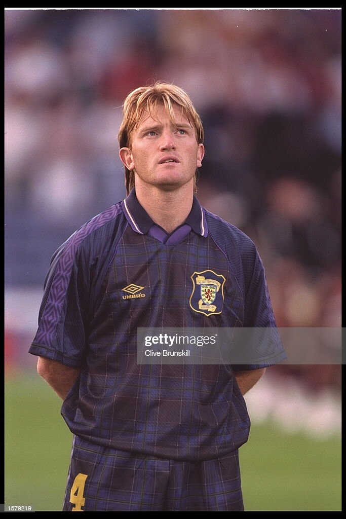 Portrait of Stuart Mccall of Scotland before the start of the European Championships qualifier against Greece at Hampden park