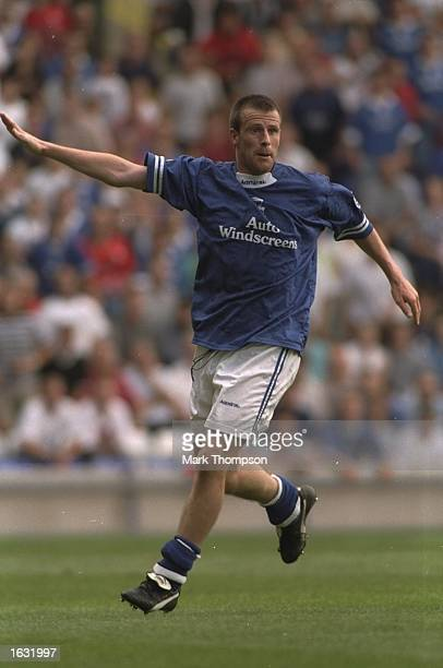 Steve Claridge of Birmingham City signals to his team mates during a League Division One match against Ipswich Town at St Andrews Stadium in...