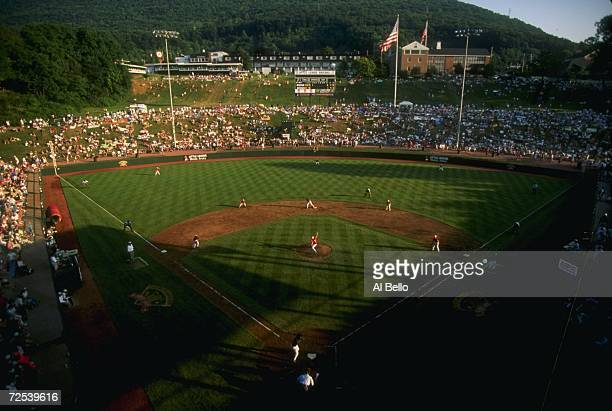 A general view of Lamade Stadium during the Cranston Rhode Island v Panama City Florida in the Little League World Series in Williamsport...