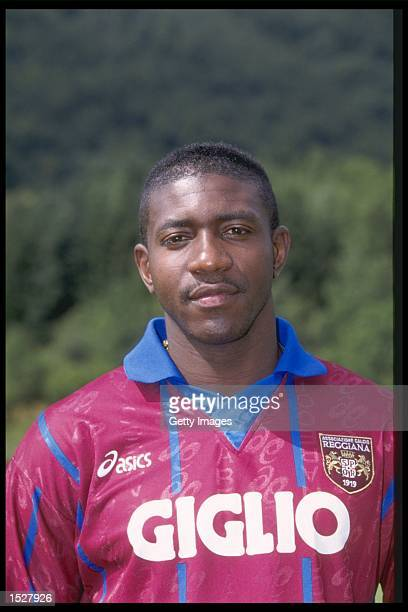 A portrait of Adolfo Valencia of Reggiana taken during the club photocall Mandatory Credit Allsport UK