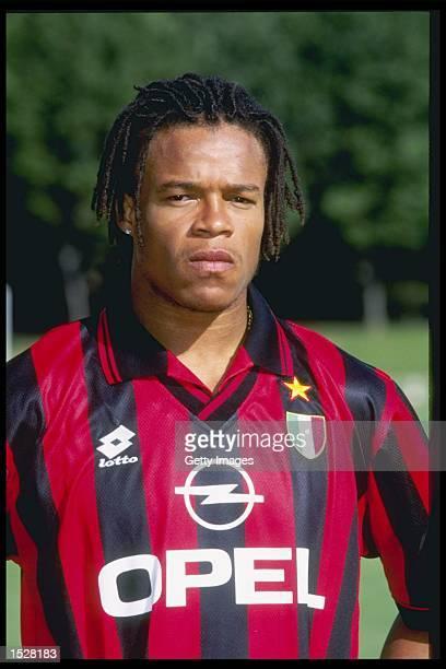 A portrait of Edgar Davids of AC Milan taken during the club photocall Mandatory Credit Allsport UK