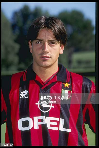 A portrait of Francesco Coco of AC Milan taken during the club photocall Mandatory Credit Allsport UK