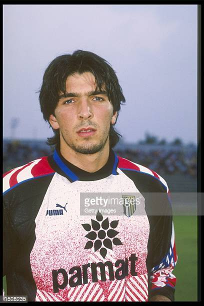 A portrait of Gianluigi Buffon of Parma taken during the club photocall Mandatory Credit Allsport UK