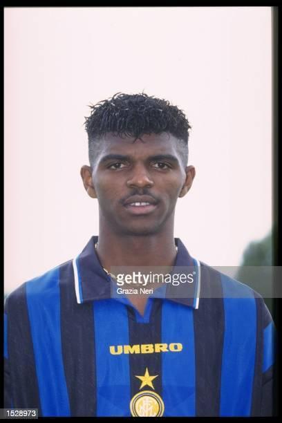 A portrait of Nwankwo Kanu of Inter Milan taken during the club photocall Mandatory Credit Allsport