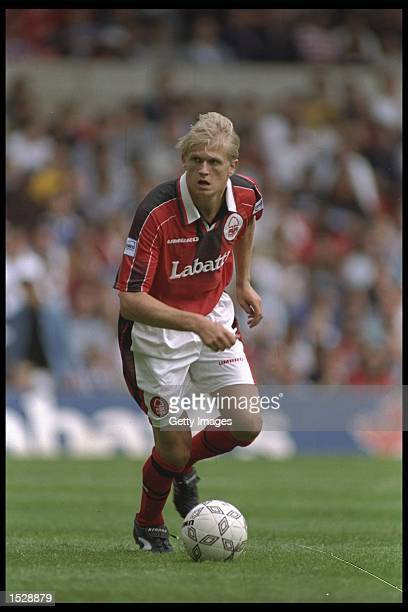 Alf Inge Haaland of Nottingham Forest in action during the Umbro Cup preseason tournament between Ajax Chelsea Manchester United and Nottingham...
