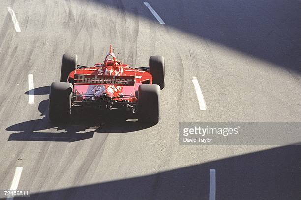 Christian Fittipaldi of the Newman Haas Racing team rounds a corner in his Lola T96 Ford during the Molson Indy in Vancouver British Columbia Canada...