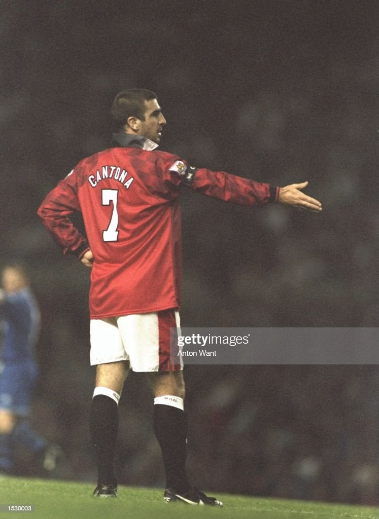 Eric Cantona Of Manchester United Starts Felling Frustration During The FA Carling Premier League Match Against