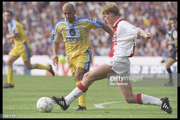 Gianluca Vialli of Chelsea makes his first team debut during the Umbro Cup preseason tournament between Ajax Chelsea Manchester United and Nottingham...