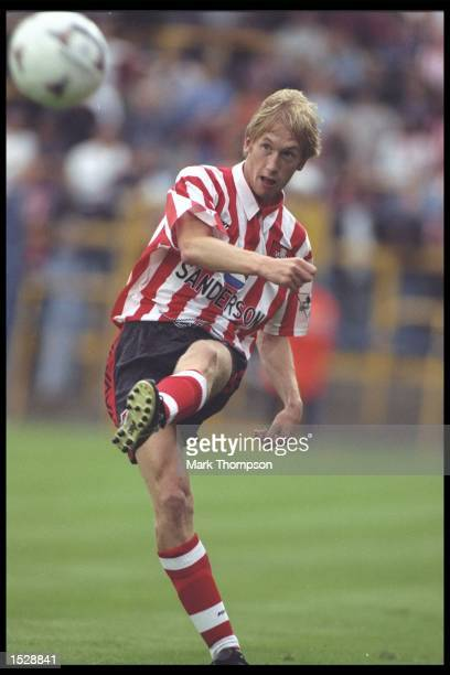 Graham Potter in action for Southampton during a preseason friendly in England Mandatory Credit Mark Thompson/Allsport UK