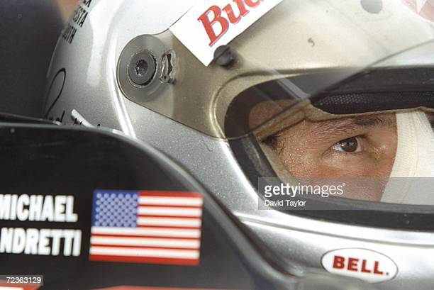 Michael Andretti of the Newman Haas Racing sits in his Lola Ford 96 during the Molson Indy in Vancouver British Columbia Canada Mandatory Credit...