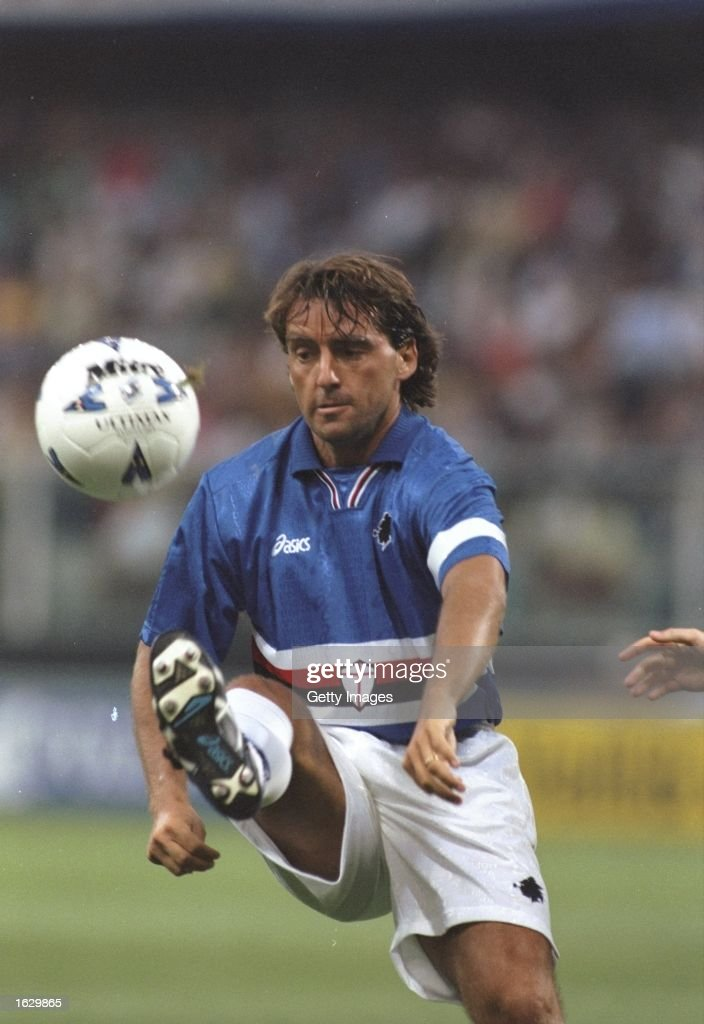 Roberto Mancini of Sampdoria : News Photo