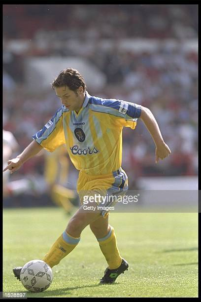 Scott Minto of Chelsea in action during the Umbro Cup preseason tournament between Ajax Chelsea Manchester United and Nottingham Forest at the City...