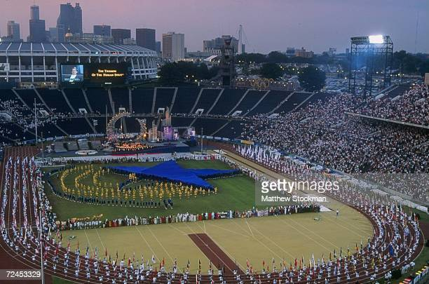 The Opening Ceremony for the 1996 Paralympics at the Olympic Stadium in Atlanta, Georgia. Mandatory Credit: Matthew Stockman /Allsport