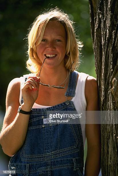 A portrait of 400 metre athlete Allison Curbishley of England at a photo shoot in Constitution Square in Athens Greece Mandatory Credit Clive...