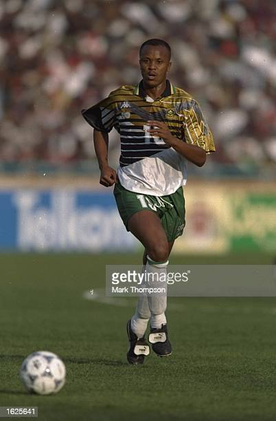 Doctor Khumalo of South Africa in action during the World Cup Qualifier against Congo in Cape Town South Africa Mandatory Credit Mark Thompson...