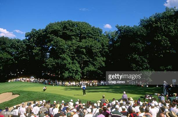 Justin Leonard of the USA in action during the PGA Championship at the Winged Foot Golf Course in Mamaroneck, New York, USA. \ Mandatory Credit:...
