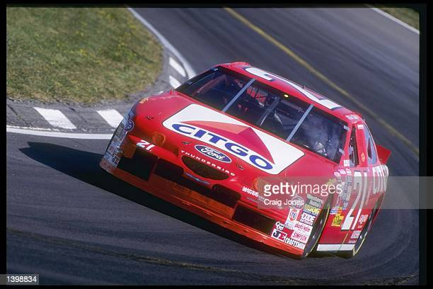 Michael Waltrip in action during the NASCAR Bud at the Glen at Watkins Glen International Speedway in Watkins Glen New York Mandatory Credit Craig...