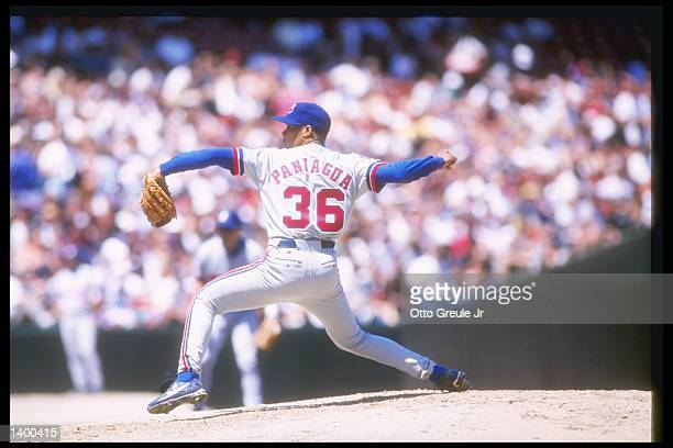 Pitcher Joe Paniagua of the Montreal Expos throws a pitch during a game against the San Francisco Giants at 3Com Park in San Francisco California The...