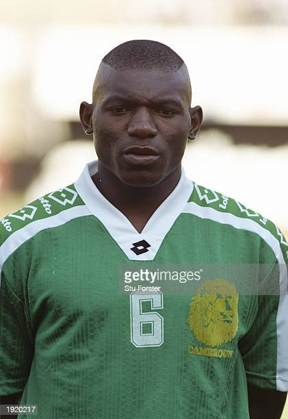 Portrait of Girimie Fotso Ndjitap of Cameroon before the World Cup qualifying match against Zimbabwe at the National Stadium in Harare Zimbabwe...