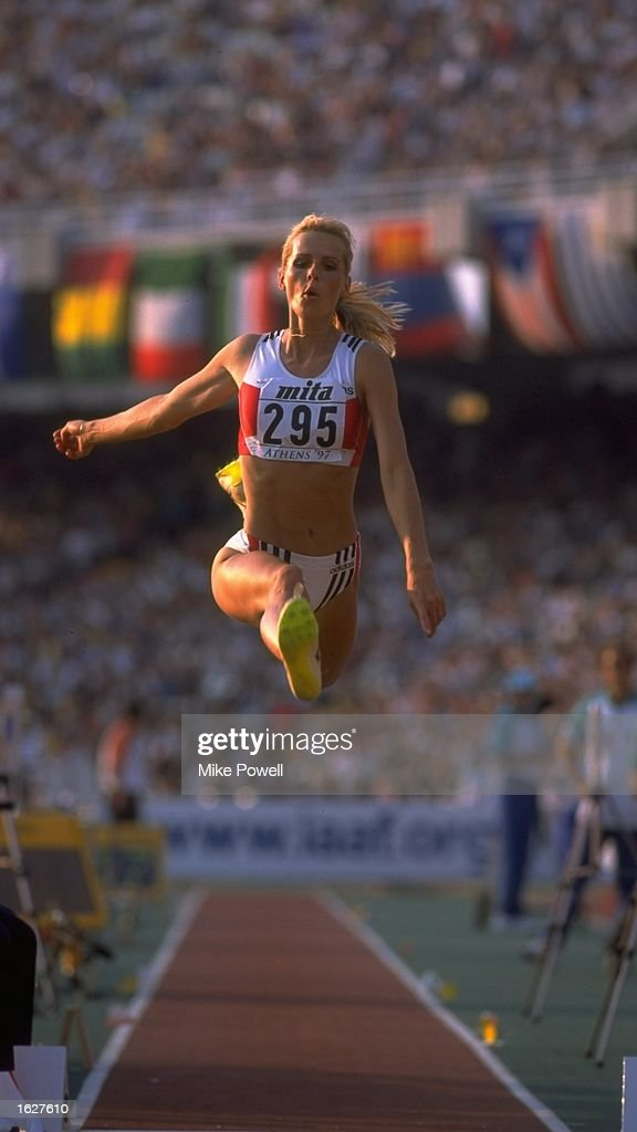 Susan Tiedtke of Germany in action during the Long Jump